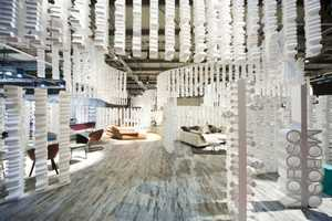 Moroso Designs Showrooms That Lack Color, But Not Beauty