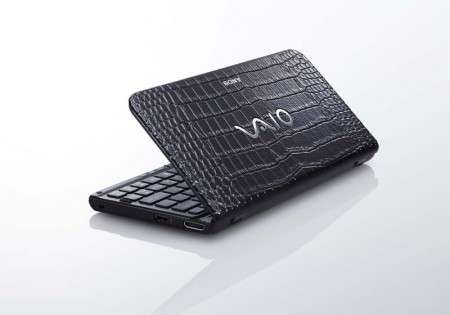 Reptilian Laptops - The Black Crocodile Sony Vaio P is Wildly Chic