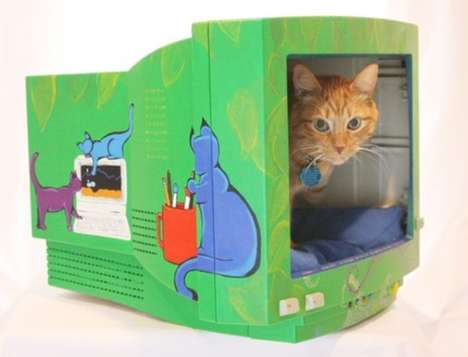 PC Pet Beds - The Computer Monitor Cat Bed is Too Cute to Power Off