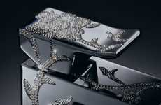 Crystal-Covered Sink Handles