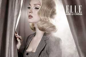Lily Cole Goes Blonde for 'Aime Le Cinema' in Elle France
