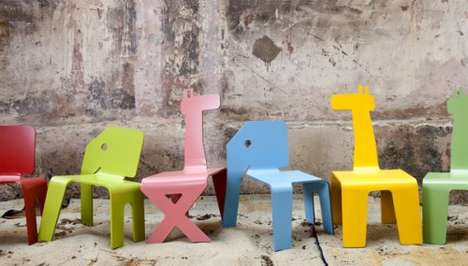 Adorable Animal Seating - Modern Chairs for Kids by Elad Ozeri Take You on a Contemporary Safari
