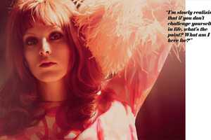 In Foam Magazine July 2010, Karen Elson is Warm & Funky