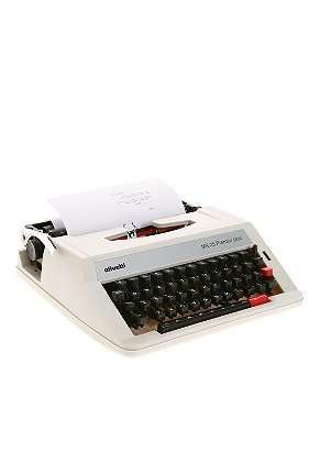 olivetti manual typewriter