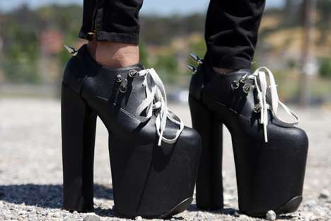 DIY Dungeon Boots - Blogger Recreates Charles Anastase's Spiked, Sky-High Platforms