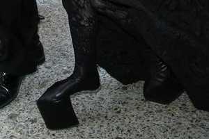 Lady Gaga Wears a Pair of Fierce Heelless Stilettos