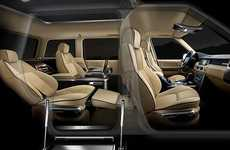 Jet-Inspired Luxury SUVs - The Design Q Q-VR Range Rover is Middle Eastern Stylin' Ridin'