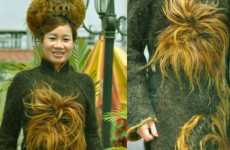 The Kim Do Hair Dress Contains 1 Million Meters of 54 Vietnamese Artists' Hair