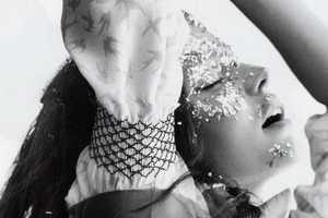 A Sparkly Miranda Kerr for i-D Summer 2010