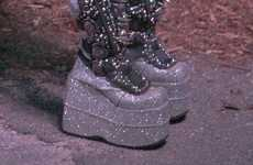 Studded Glam-Rock Platforms
