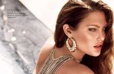 Back Necklaces - Catherine McNeil for H & M Magazine Summer 2010