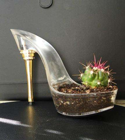 Planter Pumps - Cactus Shoes Will be Welcomed by Green Thumbs and Green Toes