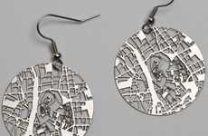 Location-Mapping Earrings