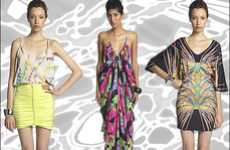 Glam Graphic Fashions - The Mara Hoffman Spring Collection is Colorfully Sophisticated
