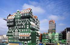 Overlapping Greenhouses - The Wam Architecten Inntel Hotel is Stacked Sophistication