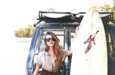 Neutral Surf Fashions - Elle Italia 'Surfin' Costa Rica' is Paradise Pretty