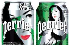The Dita Von Teese Perrier Water Bottles are Sexy & Stylish