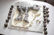 Empire Fighting Nuptial Confections - The Toppled AT-AT Wedding Cake Ensures the Force is with You