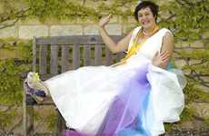 Bubble Wrap Wedding Dresses - Rachael Robinson's 100 Percent Recycled Dress Cures Cold Feet