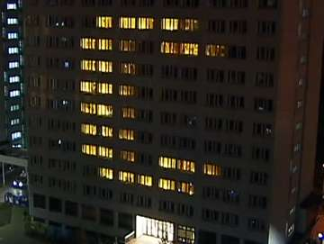 Dorm Room Light Shows - Wroclaw University of Technology Puts on Animated Display of Illumination