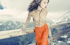 Vibrant Mountainside Photography - Nadia Moro Asks Her Models to 'Never Go Back'