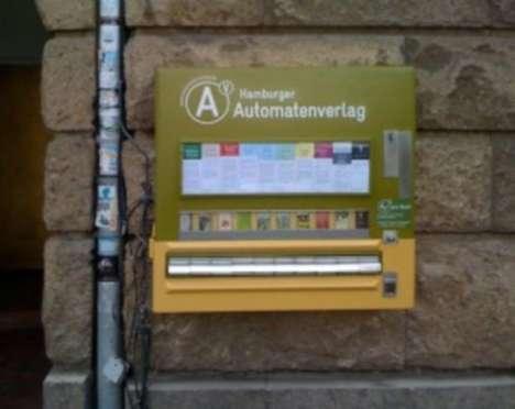 Converted Cigarette Machines - Hamburger Automatenverlag Vending Machine is a Mini Bookstore