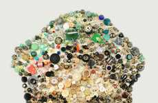 Recycled Button Portraits
