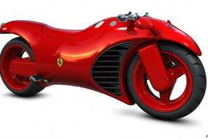 The Ferrari Motorcycle is Red Hot