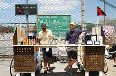 Bike-Powered Java Shops - The Mobile Kickstand Coffee Bar Hits New York Streets