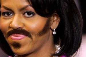 Female Celebrities with Mustaches Look Rough and Tough