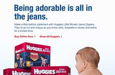 Huggies Little Movers Jeans Diapers Make Your Baby a Trendsetter From Birth