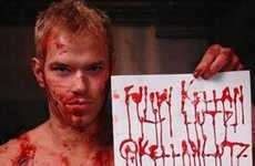 Twitter Verification Stunts - A Bloody Kellan Lutz Attemps to Get his Twitter Account Verified