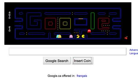 Google PacMan Icon Game