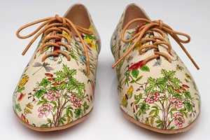 The Meow Floral Lace Up Shoes Add a Punch of Color to Spring Styles