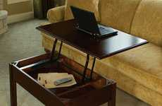 Pop-Up Workstations - The Convertible Coffee Table Transforms from a Table to a Desk