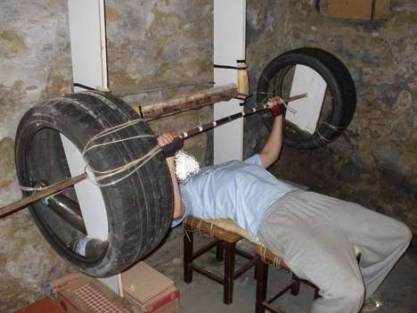 Homemade Home Gym