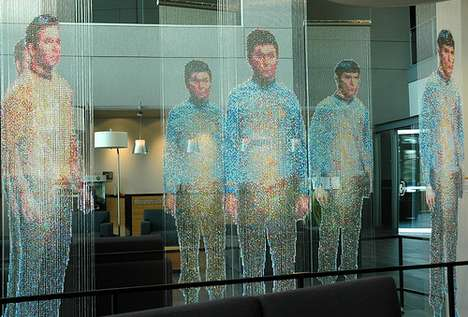 Fauxlogram Office Art - Microsoft 'Star Trek' Sculpture Shows Spock & Crew Ready to Materialize