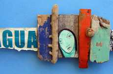Comical Wood Collages