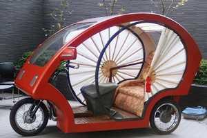 The Meguru Bamboo Car is Traditional and Futuristic