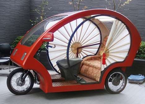 Pocket-Sized Electrocars - The Meguru Bamboo Car is Traditional and Futuristic