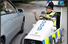 Pedal-Powered Police Cruisers - The UK's Foot-Operated Patrol Cars are Utterly Ridiculous