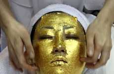 Gold Innovations, from Gilded Facials to Gold Flake Champagne