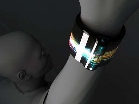 Touchscreen Tech Bracelets - The Nextep Computer Concept by Hiromi Kiriki