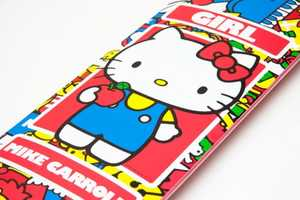The Hello Kitty 35th Anniversary Collection Skateboard and Clothes are Rad