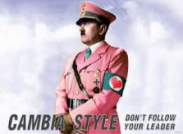 Dictator Fashion Ads - The New Form 'Pink Hitler' Advertisement Creates Controversy in Sicily