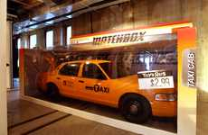 Matchbox Taxi Cabs - Mr. Brainwash at New York Design Week Brings Extravagance