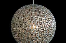 Mauricio Affonso Desgins New Lamp Made from Old Soda Can Tabs