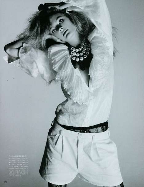 white light in soft shadows for vogue nippon