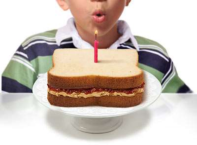 Lunch Cakes - This Peanut Butter and Jelly Sandwich Cake is Better Than Your Buddy's Lunch