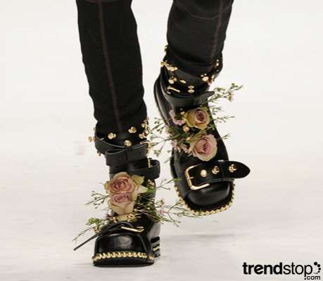 Romantic Punk Boots - JW Anderson Fall/Winter 2010-11 Realizes the Potential of Florals